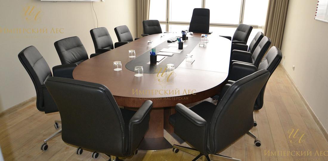 переговорный стол из массива дуба