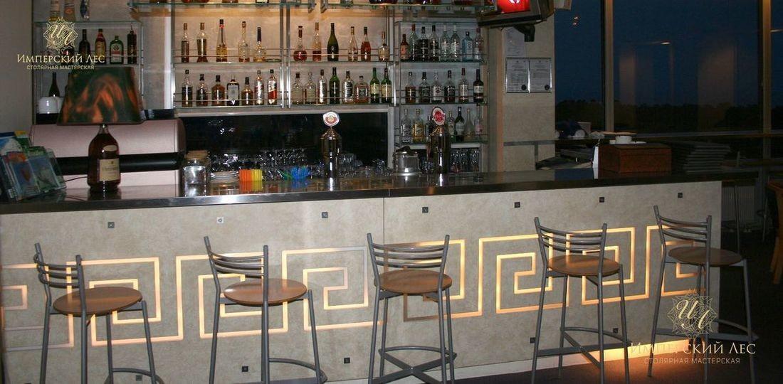 Барная стойка в кафе (ТЦ Румянцево). Подробности проекта смотрите здесь