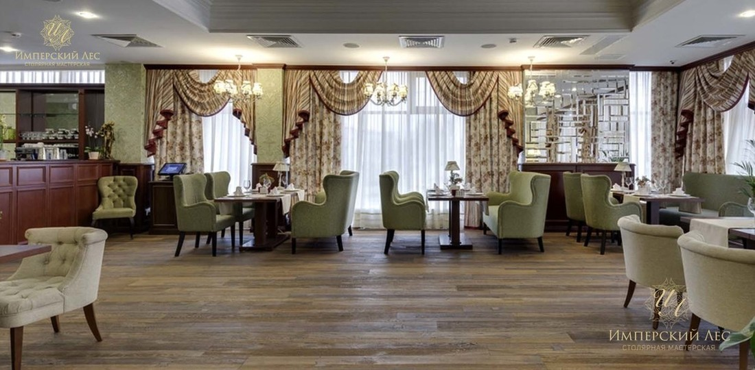 Мебель для ресторана из натурального дерева